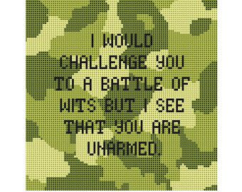 Cross Stitch Pattern - Counted Cross Stitch Pattern PDF Instant Download Chart Motivational Modern Funny Quirky Subversive Cross Stitch