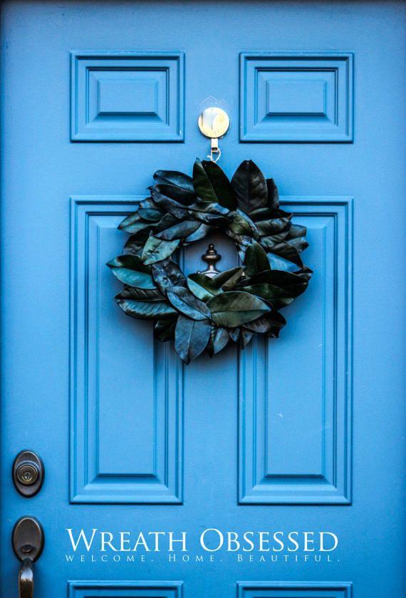 Preserved Magnolia Wreath Large Front Door by WreathObsessedClassic Magnolia Wreath. This wreath is a perfect complement for Cottage and Farmhouse Home Decor Design. This wreath has a refreshing natural magnolia scent (similar to eucalyptus).  If you want to impress a loved one, send them this trendy Magnolia Wreath or any other of our Farmhouse designs. Wreath Obsessed   Welcome. Home. Beautiful.