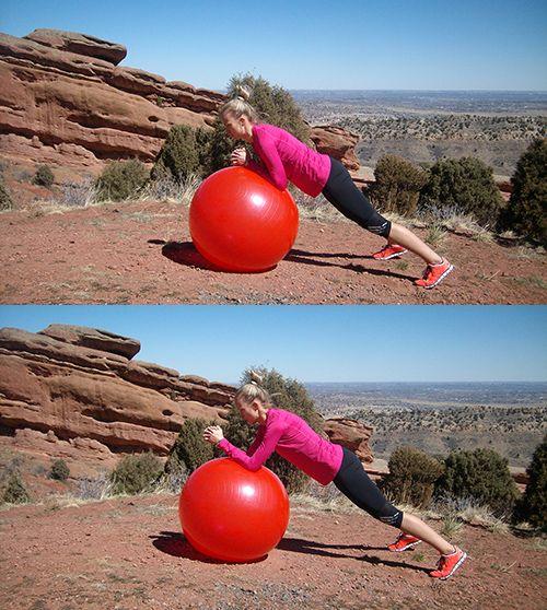 Ćwiczenie na piłce stabilizującej IV