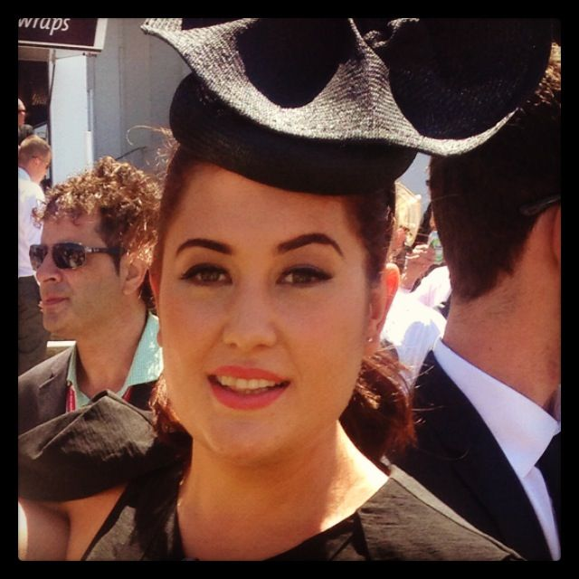 Ally looking amazing in a Benny Millinery custom made piece xx