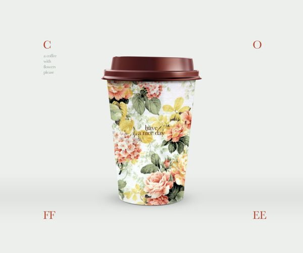 Coffee with flowers. by Dimitris Kostinis, via Behance