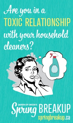 Queen of Green has great tips on how to reduce the use of harsh and toxic chemicals when cleaning...