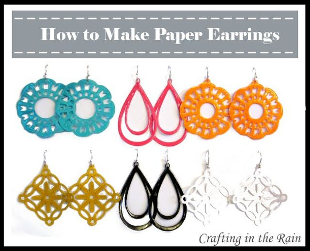 FREE SVG MTC cut files Making Paper Earrings | Crafting in the Rain