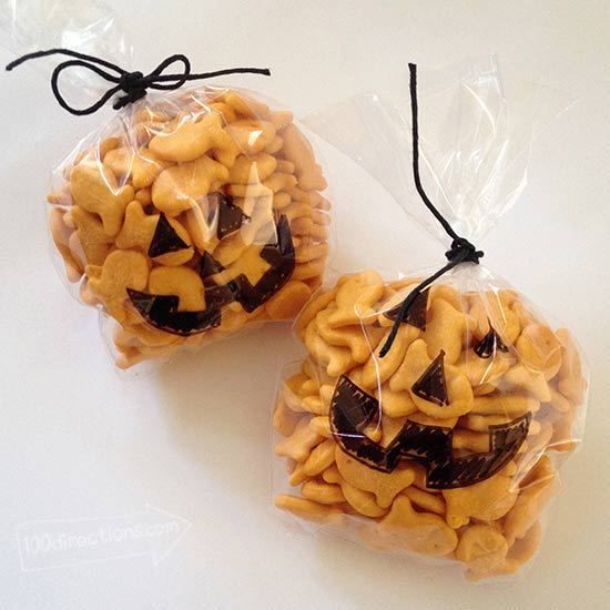Cute pumpkin Halloween treats