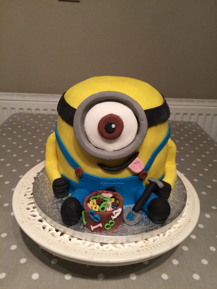 A minion cake  I made for maths week in my  school