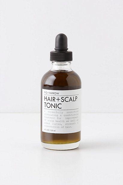 Fig   Yarrow Hair   Scalp Tonic #anthropologie, hair oil.
