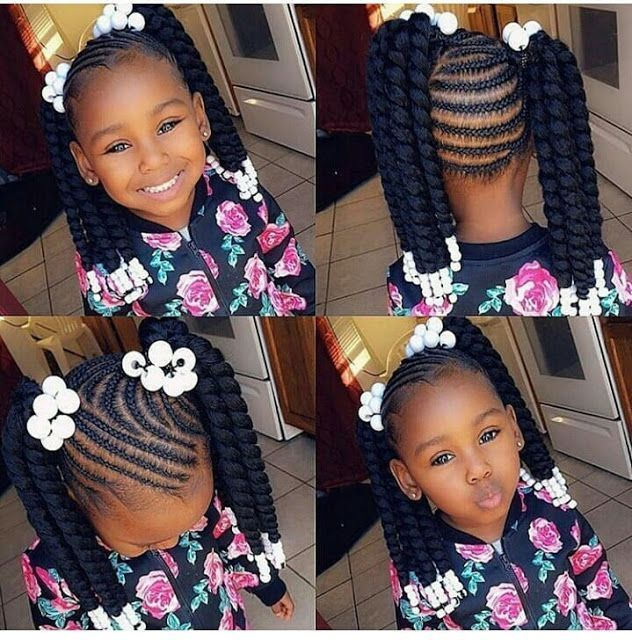 2019 Lovely Stunning Braids For Kids Hairstyle Black Kids Black Braids Hairstyle Kids Lovely St Braids For Kids Crochet Hair Styles Kids Hairstyles