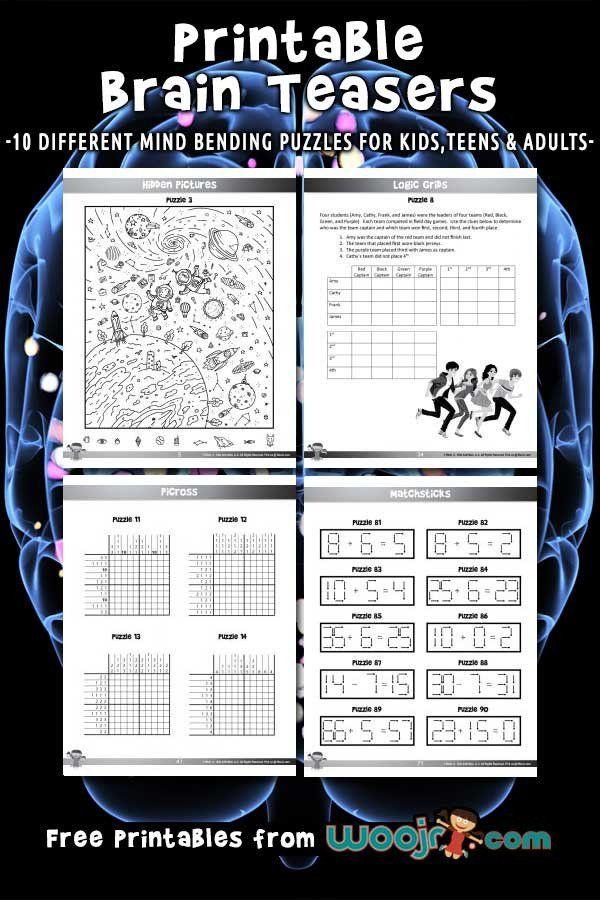 Brain Teaser Printable Worksheets Printable Brain Teasers For Kids Brain Teasers For Kids Printable Brain Teasers Brain Teasers For Teens Brain teaser for kids worksheets