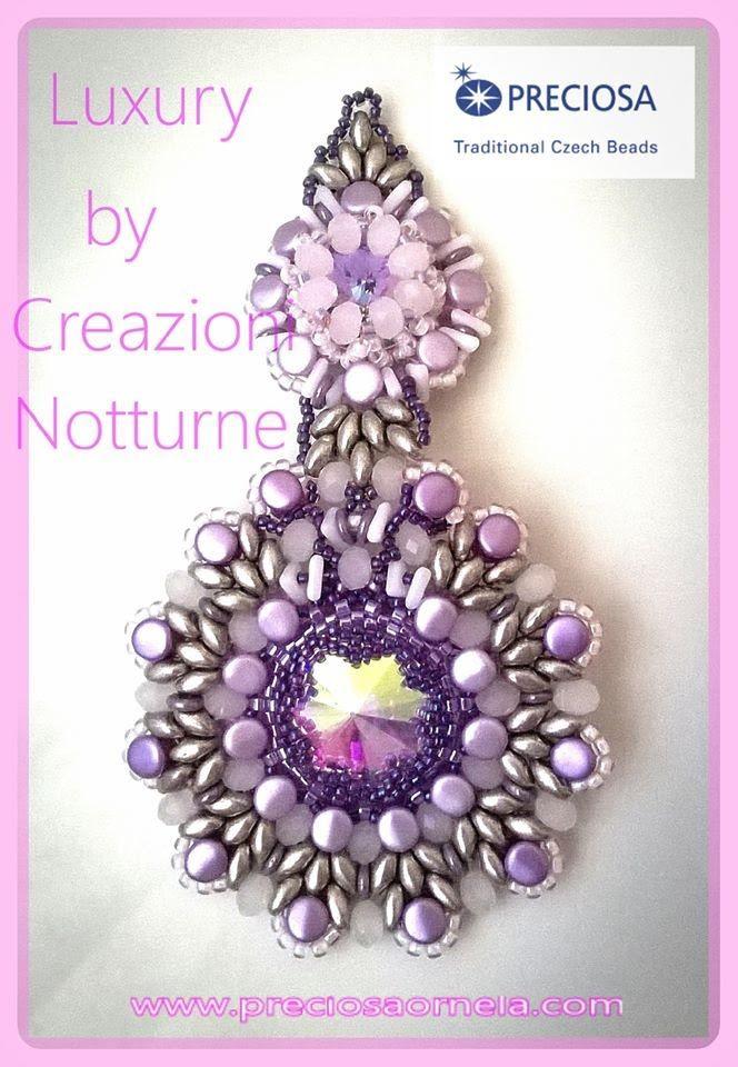 tutorial orecchini LUXURY con Pellet cipollotti e tri beads VIDEO  COLLA...