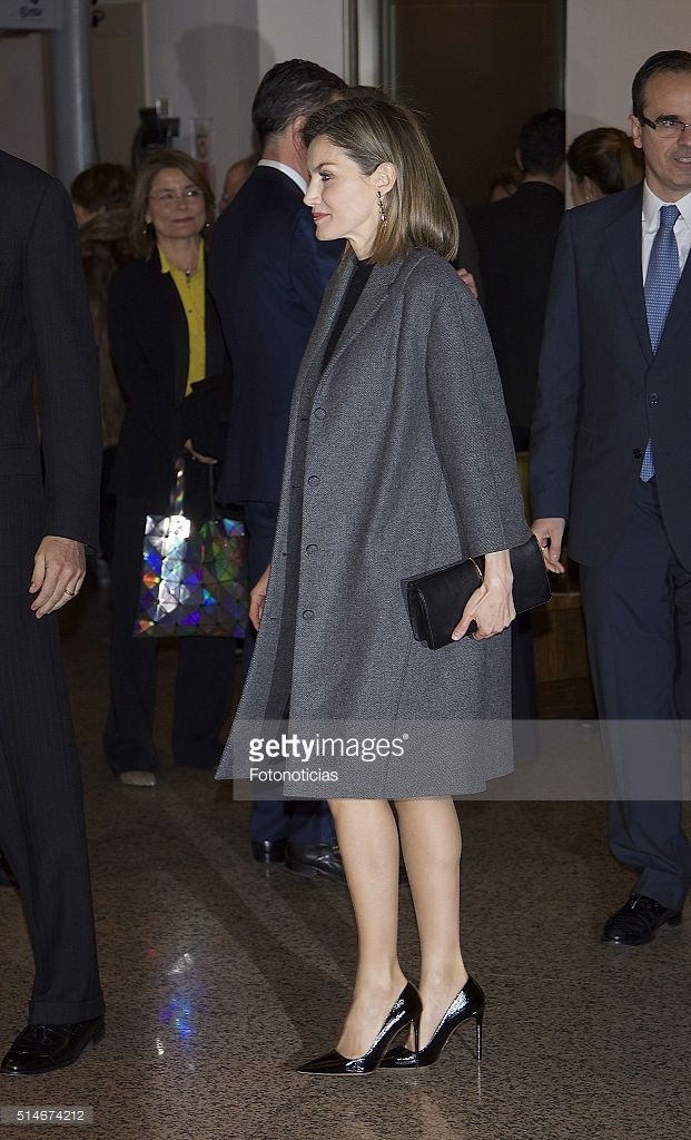 Queen Letizia of Spain arrives to the 'In Memoriam' concert at the National Auditorium on March 10, 2016 in Madrid, Spain.
