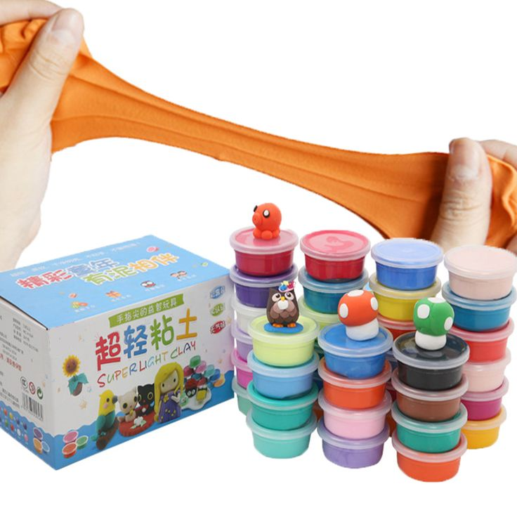 24colors 24pcs DIY Plasticine Soft Polymer Model Super Light Clay set Air-dried Special Toys Playdough Gift for kid
