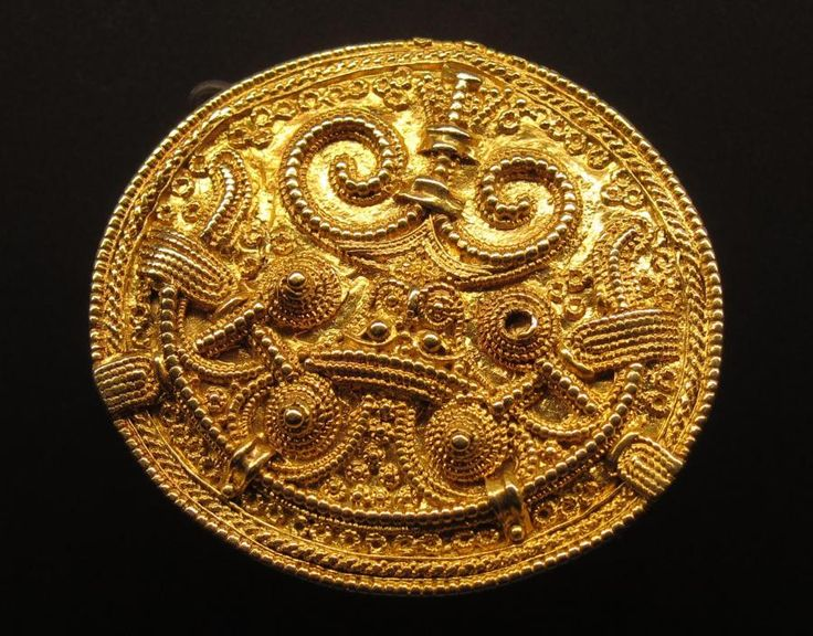Viking gold brooch from Hedeby, Germany, ca. before 1100 A.D.
