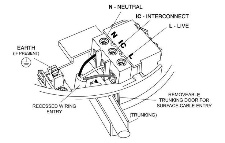 Hard Wired Smoke Detector Wiring Diagrams (มีรูปภาพ)