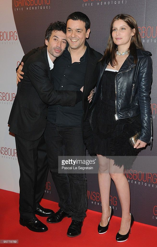 Photo d'actualité : Actors Eric Elmosnino and Laetitia Casta pose...