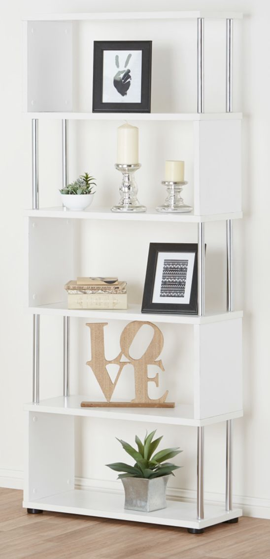 The Ecco bookcase is striking and makes a statement with its bold geometric design.