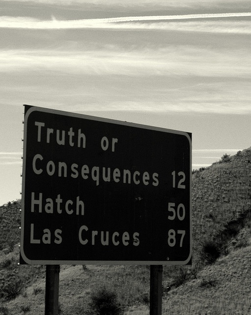 Passing Truth or Consequences to Hatch in Las Cruces, New Mexico
