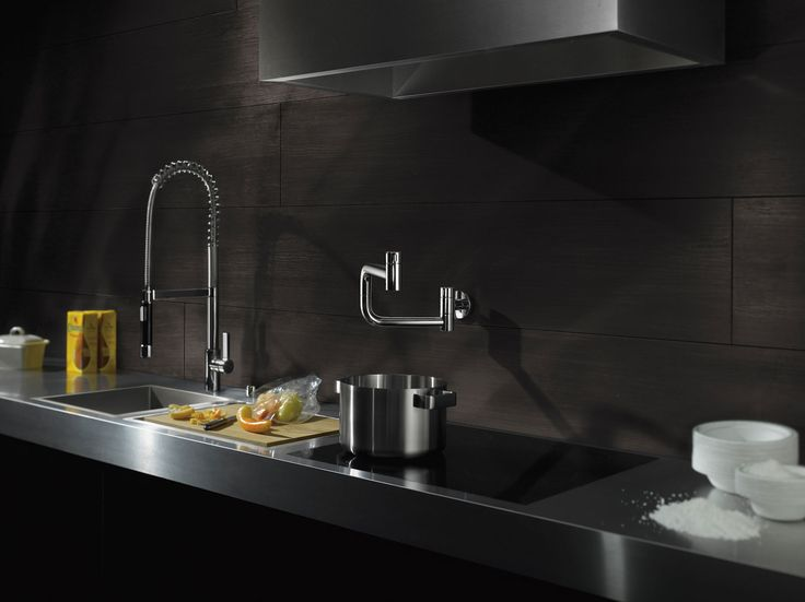 Flexible kitchen faucet and 360° radius kitchen faucet by Dornbracht / TARA ULTRA Collection