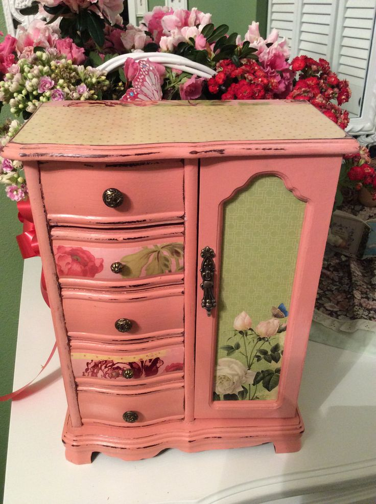 189 best Painted Jewelry Box Makeover images on Pinterest