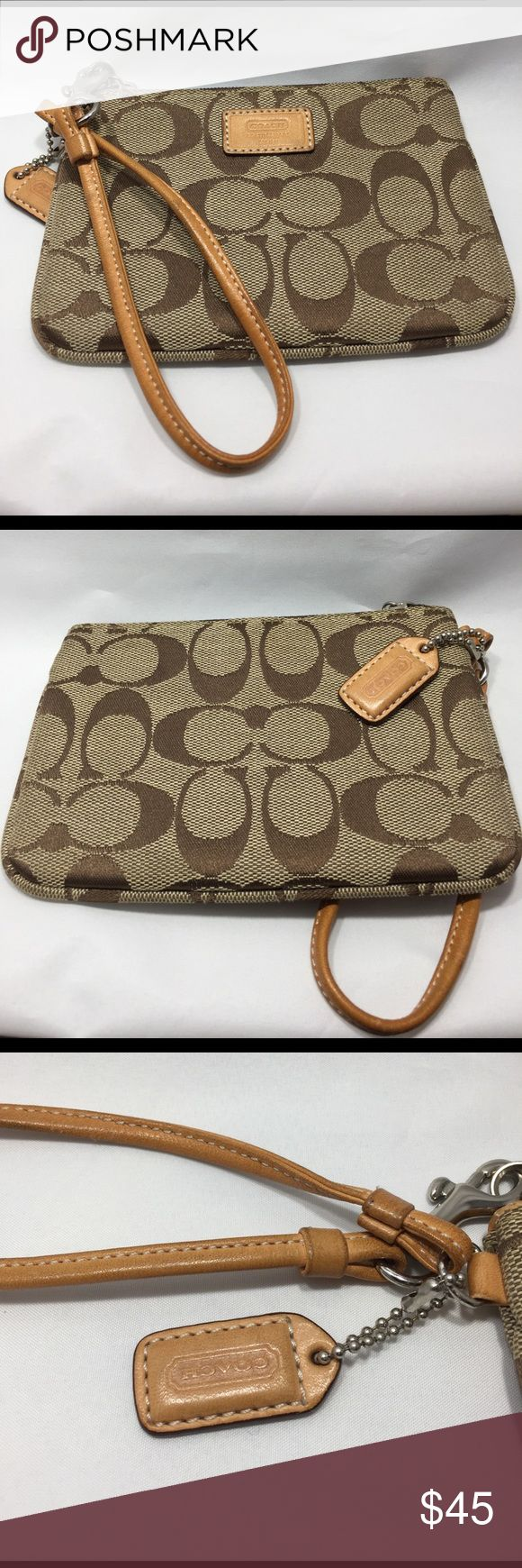 Signature Coach Wristlet NWOT Signature Coach Wristlet. NWOT just in time for the summer. Perfect for those nights out with the girls or going to the casino. Coach Bags