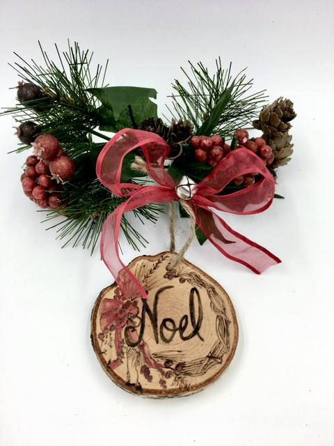 Wreath Ornaments Rustic Christmas Ornament Set Wooden Rustic Christmas Ornaments Christmas Ornament Sets