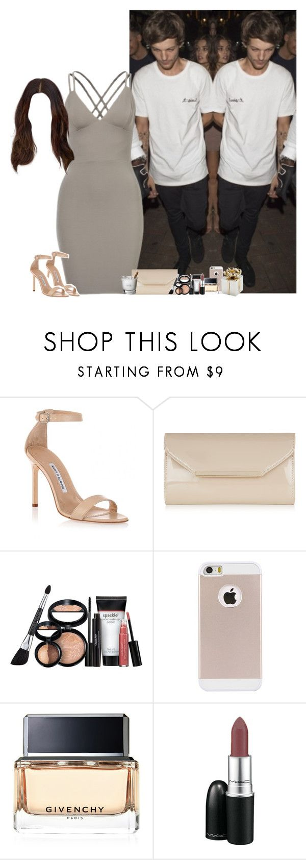 """""""Niall's birthday party with Louis"""" by fxrever-isnt-for-everyone ❤ liked on Polyvore featuring Manolo Blahnik, Accessorize, Laura Geller, Givenchy and louistomlinson"""