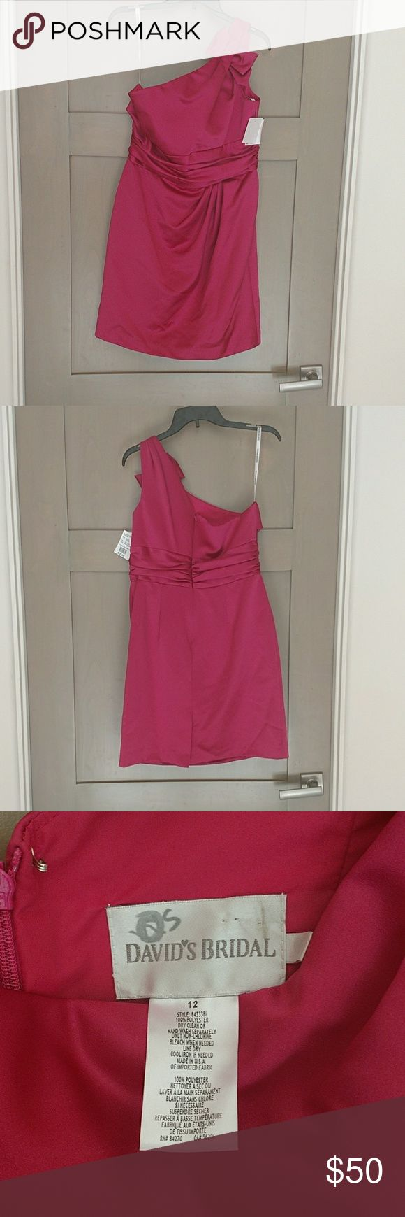 Brand new David's bridal Bridesmaid dress/ prom Watermelon color davids Bridal Dresses Wedding