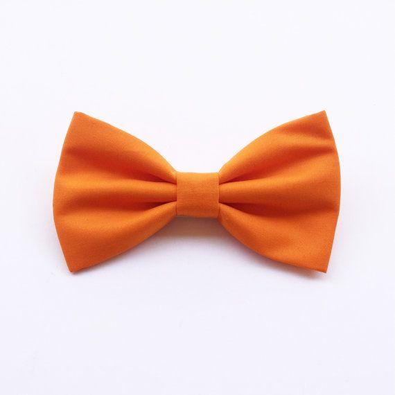 Papillon arancio per uomofarfallino di ScoccaPapillon su Etsy