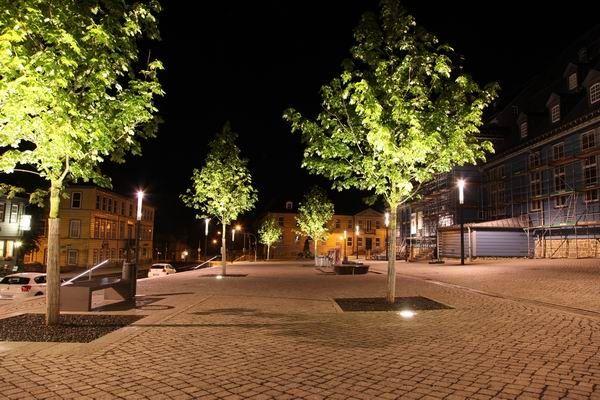 Platzbeleuchtung An Der Marktkirche In Clausthal Zellerfeld Beleuchtung Licht Kirchen