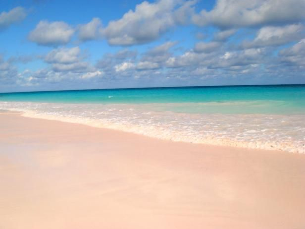 Pink Sands Beach, Bahamas, is the place to go for natural beauty, elegant resorts and, most importantly, 3 miles of perfectly pink sand and gentle waters.