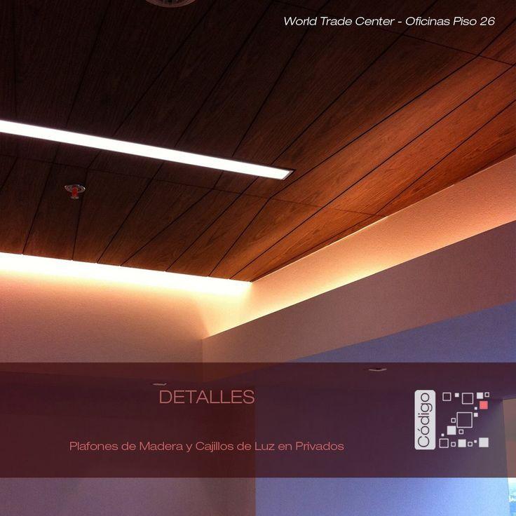 World trade center corporativo piso 26 plafones de for Plafones luz pared