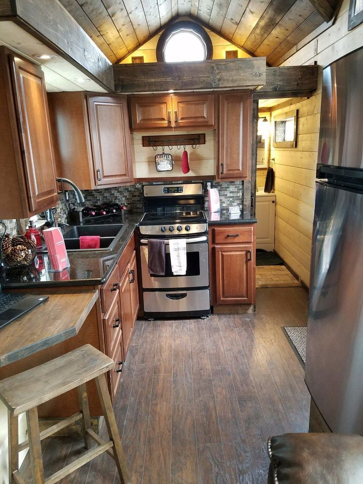 CUSTOM 33Ft Log Cabin Style Tiny House - Tiny House Listings
