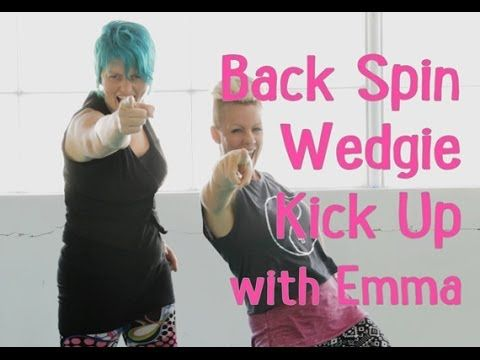 how to do a kick spin in dance