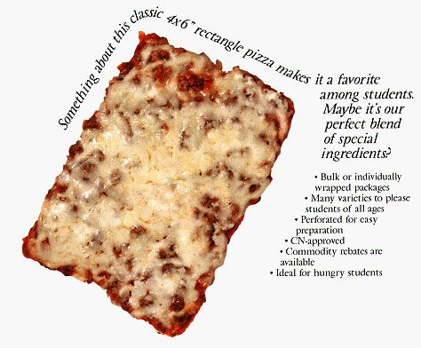 Best cafeteria pizza ever.  I miss this stuff.
