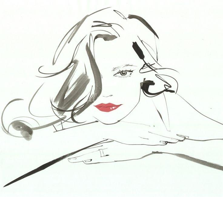 Jacqueline Bissett watercolor