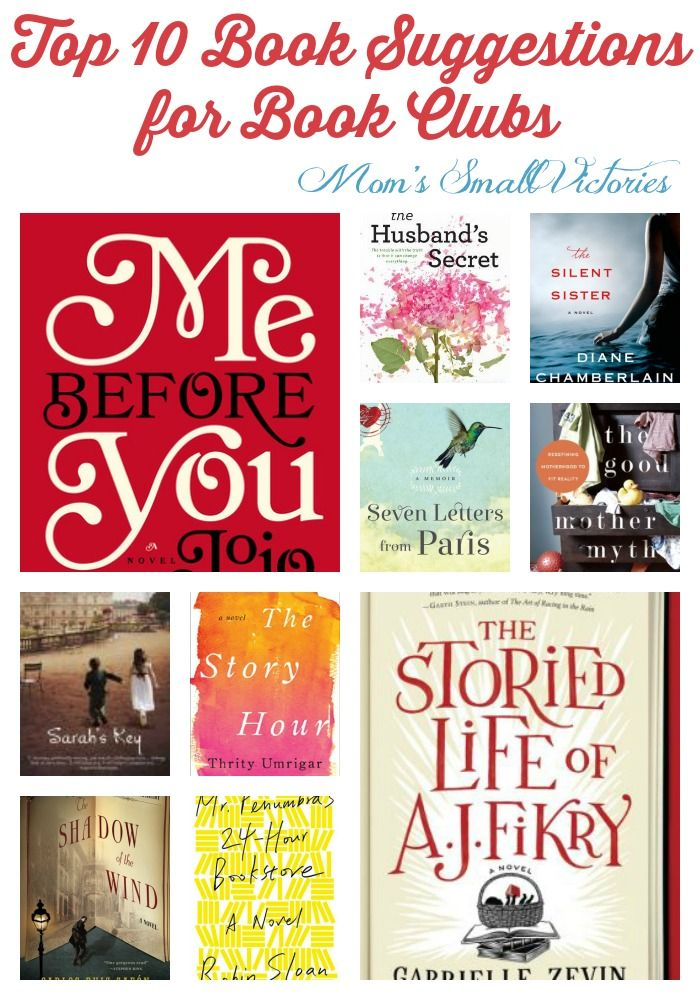 Top 10 Books Worth Reading for Book Clubs. A little drama, a little romance and books about books. Your book club will love these ideas!