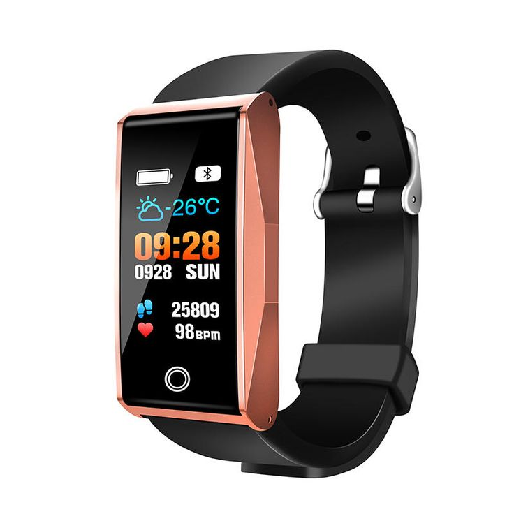 """Bakeey Mate 1 0.96"""" Color Screen Blood Oxygen Pressure Heart Rate Music Camera Control Smart Watch Sale - Banggood.com"""