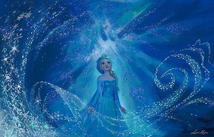 Frozen - One With the Wind and Sky - Elsa - Lisa Keene - World-Wide-Art.com - #frozen #disney #lisakeene