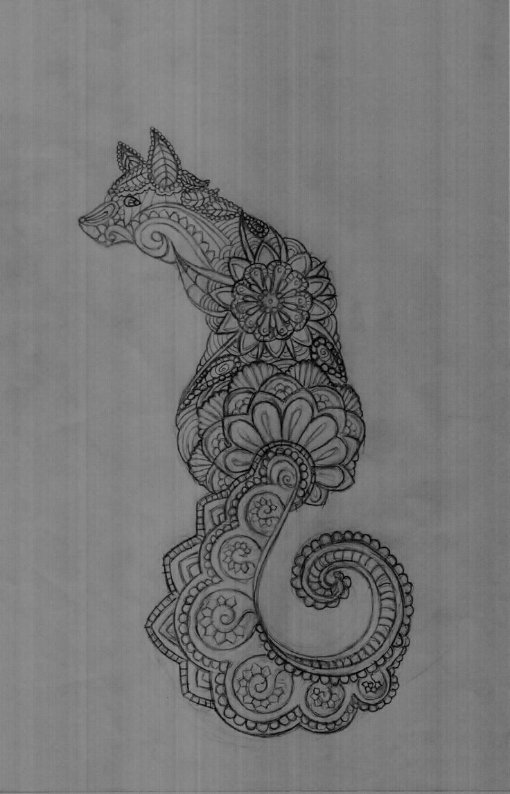 If you decide to get a tattoo look at the image of a fox this animal - My Paisley Fox