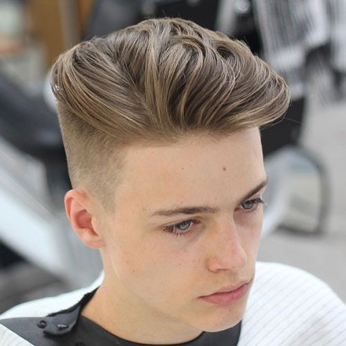 Fashionable Men's Haircuts :   High Tapered Fade with Long Textured Slick Back    -Read More –   - #Haircuts