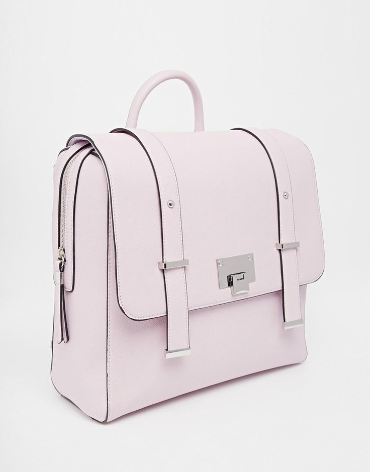 Image 2 ofNew Look Lilac Boxy Backpack