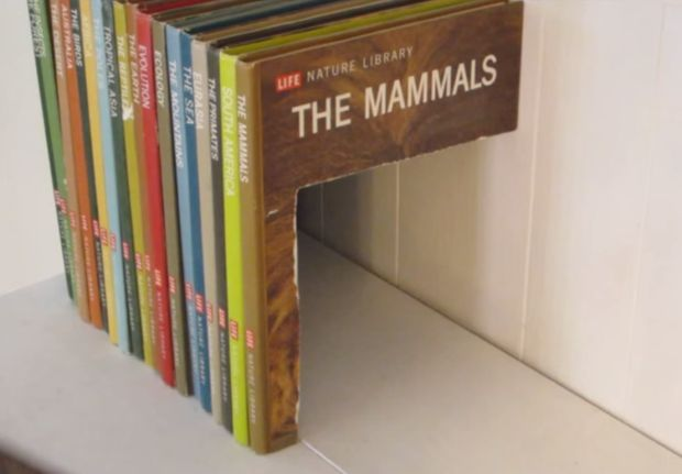 Multi-Book Secret Storage Compartment by Jason Poel Smith — via Make:
