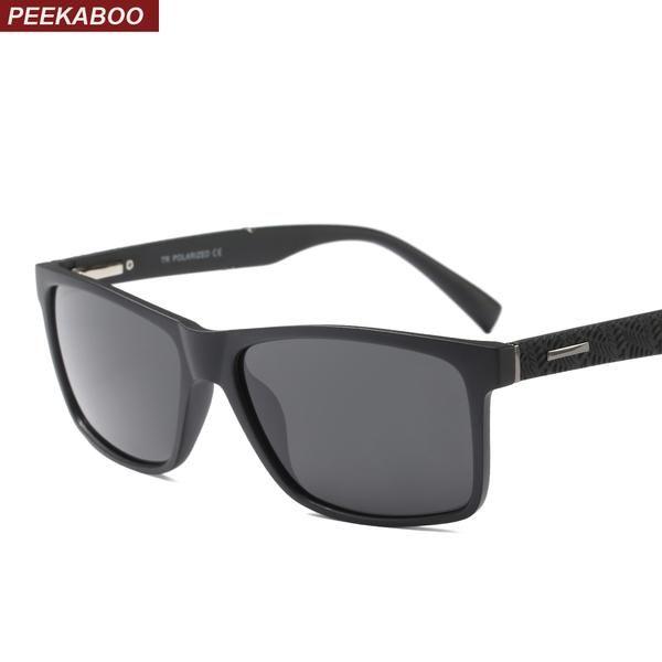 #DealOfTheDay #FASHION #NEW Peekaboo rectangle sunglasses men polarized for driver with box TR90 brown black square sun glasses for men…