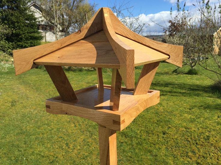 Oak bird table