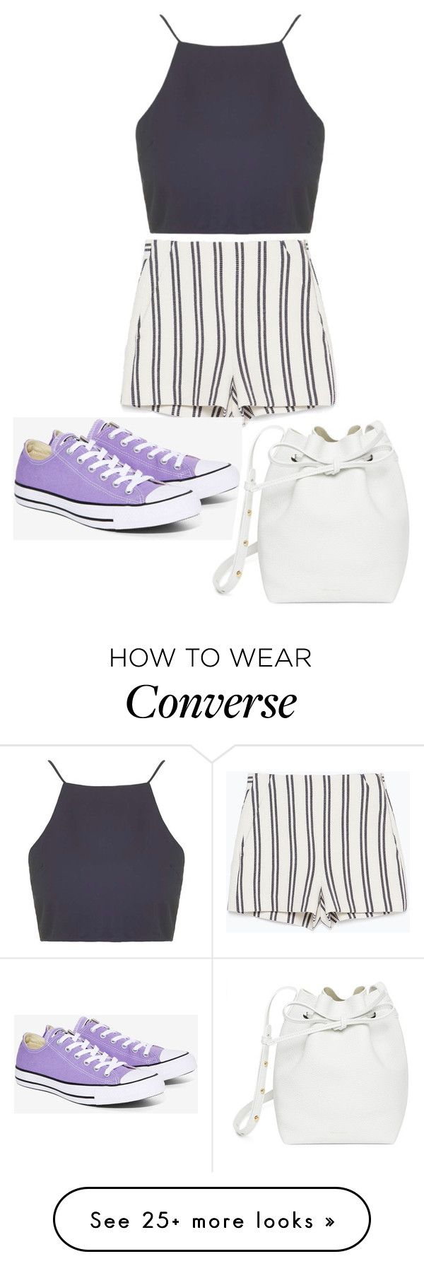 """Untitled #8802"" by beatrizibelo on Polyvore featuring Topshop, Zara, Converse and Mansur Gavriel"