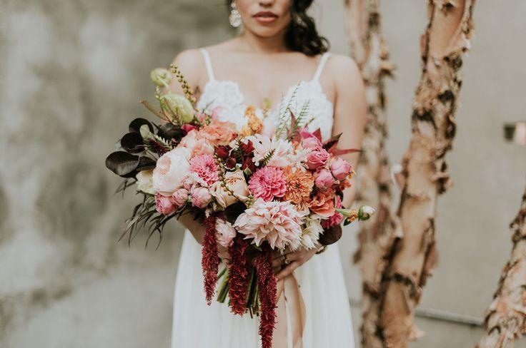 amaranthus bouquet novias ramos toscana tocados