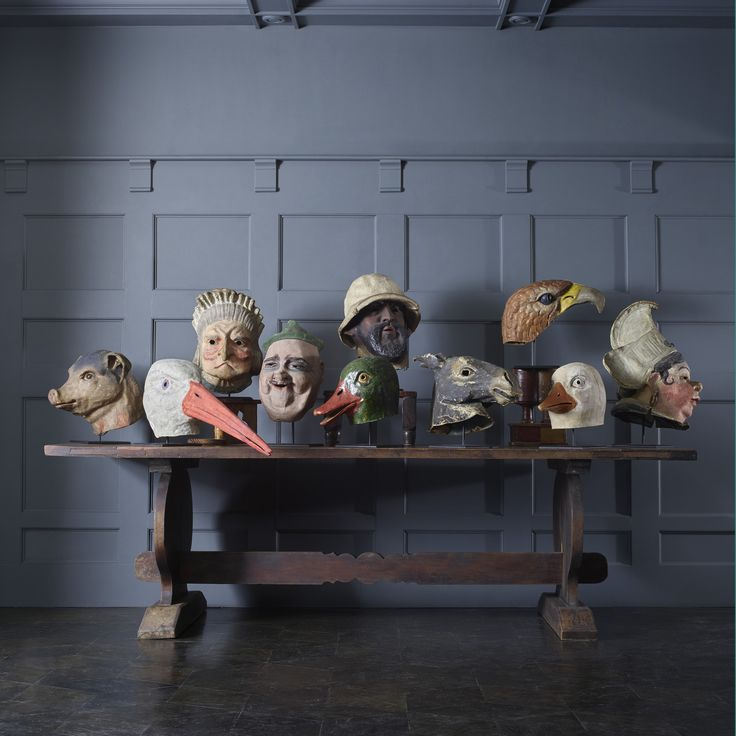 113: Early 20th Century / collection of ten carnival masks < Blackman Cruz, 21 April 2015 < Auctions | Wright