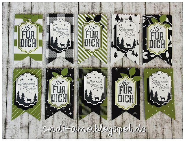 andi-amo: Versand des neuen Herbst-Winter-Katalogs 2017  Anhänger, Tags mit dem Stampin Up Stempelset Weihnachtliche Etiketten und der Stanze Etikett für jede Gelegenheit auf www.andi-amo.blogspot.de