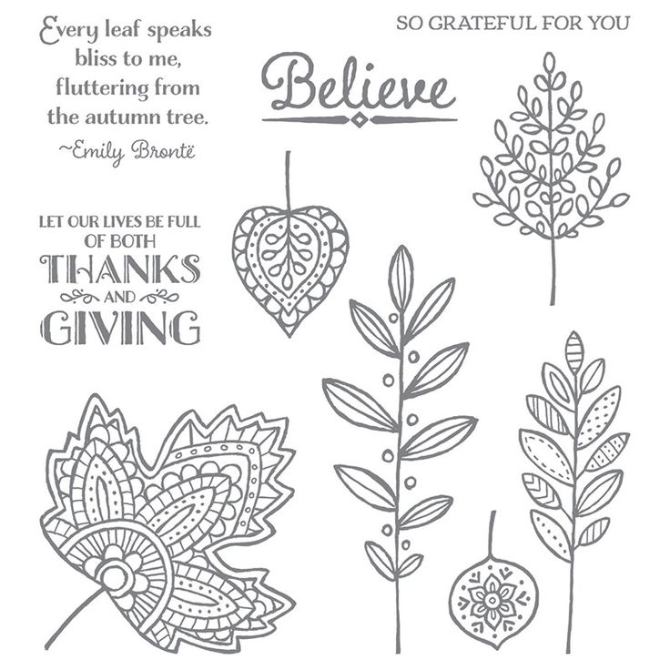 Lighthearted Leaves Stamp Set, Stampin' Up!