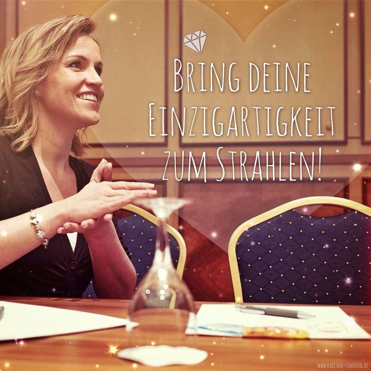 """""""Bringe deine Einzigartigkeit zum Strahlen!"""" [Kristin Kluck] -  #leben #lieben #lachen #freiheit #zitat #spruchbild #spruch #coaching #podcast #persoenlichkeit #achtsamkeit #denkanstoss #business #erfolg"""