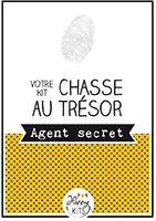 Kit de chasse au trésor pour un anniversaire enfant Agent secret